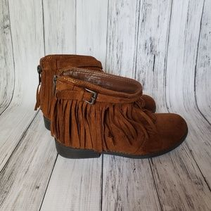 Tahari Girls Ankle Fringe Booties